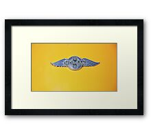 Morgan Emblem (on Yellow) Framed Print