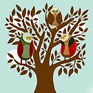 Owl Family by Honeyboy Martin