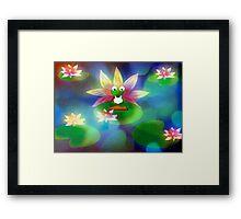 Yoga Frog  Framed Print