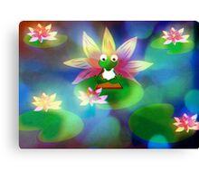 Yoga Frog  Canvas Print