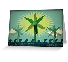 Alternative Energy Greeting Card