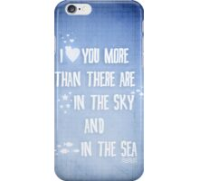 I ♥ you more iPhone Case/Skin