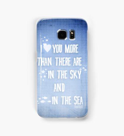 I ♥ you more Samsung Galaxy Case/Skin