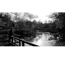 View Across Ponteland Park Lake Photographic Print