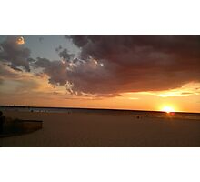 Holdfast Bay Sunset #2, Glenelg, South Australia Photographic Print