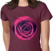 Red Swirls  Womens Fitted T-Shirt