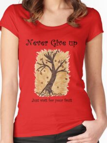 A Happy Tree on Tshirt Women's Fitted Scoop T-Shirt
