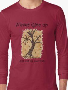 A Happy Tree on Tshirt Long Sleeve T-Shirt