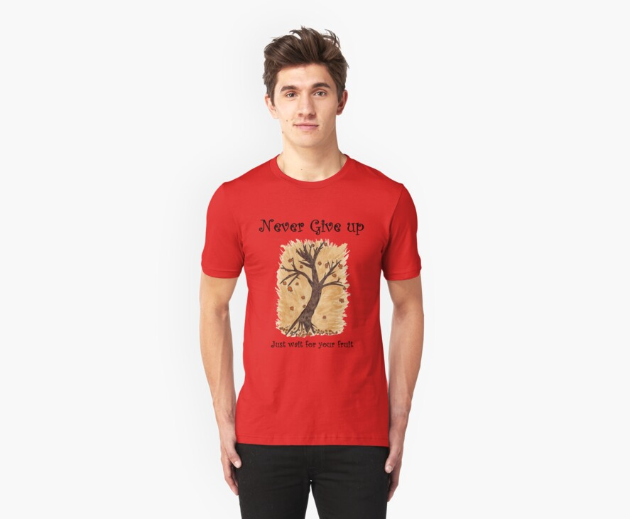 A Happy Tree on Tshirt by NikunjVasoya