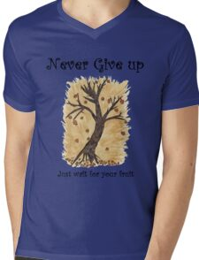 A Happy Tree on Tshirt Mens V-Neck T-Shirt