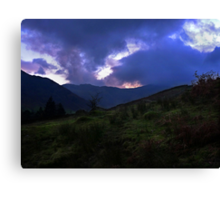 Bow Fell & Crinkle Crags From Stickle Ghyll Canvas Print