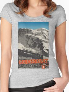 Vintage poster - Switzerland Women's Fitted Scoop T-Shirt