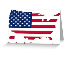 america country Greeting Card