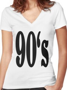 90's Women's Fitted V-Neck T-Shirt