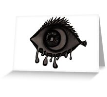 Abstract fish/eye? (Black and White) Greeting Card