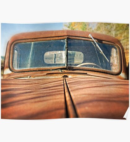 Rusty Old Pick Up Truck Poster