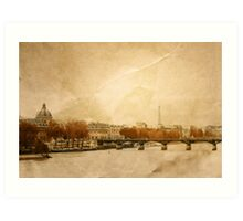 beautiful retro style paris france Art Print