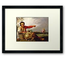 Shepherd Boy Pointing at Tobias and the Angel, c.1625-30 Framed Print
