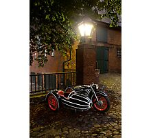 BMW R12 with sidecar Photographic Print