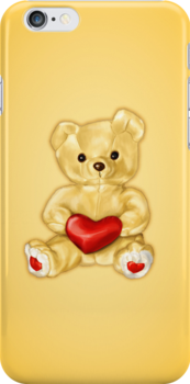 Cute Teddy Bear Hypnotist IPhone Case by Boriana Giormova