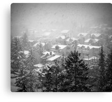 Snowy Roofs Canvas Print