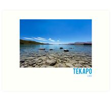 Tekapo Lake Art Print