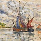 Fishing Boats in La Rochelle, c.1919-21 by Bridgeman Art Library