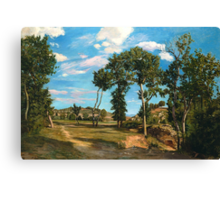 Landscape by the Lez River, 1870  Canvas Print