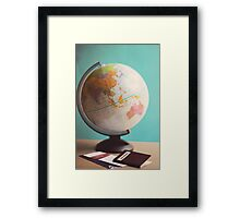 Travel Planning Framed Print