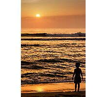The sun and the Boy 1 Photographic Print