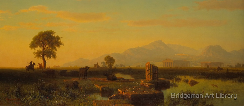 Ruins of Paestum, 1858  by Bridgeman Art Library