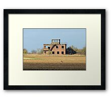 The Old Tower at RAF Coleby Grange (WWII Canadian airfield) Framed Print