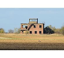 The Old Tower at RAF Coleby Grange (WWII Canadian airfield) Photographic Print