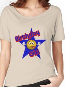 Cute Birthday Girl Smiley Face Women's Relaxed Fit T-Shirt