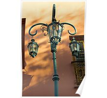 Street Light of La Boca Poster