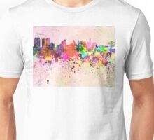 Philadelphia skyline in watercolor background Unisex T-Shirt