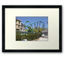 Riddler's Revenge (Roller Coaster) Framed Print