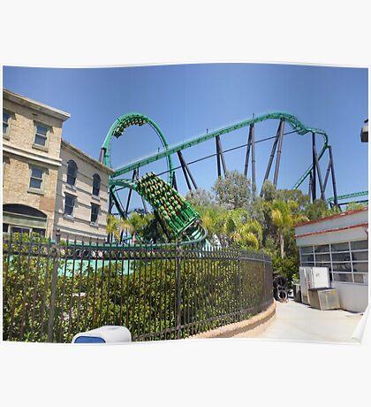Riddler's Revenge (Roller Coaster) Poster
