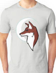 Night Fox Profile & Moon Unisex T-Shirt