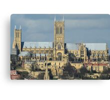 Lincoln Cathederal South Face Canvas Print