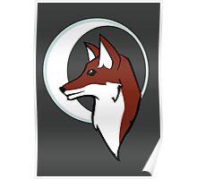 Night Fox Profile & Moon Poster
