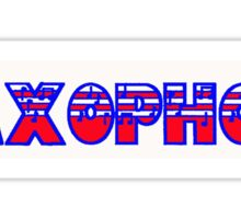 Saxophone Red White & Blue  I Sticker