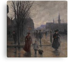 Rainy Evening on Hennepin Avenue, c.1902 Canvas Print