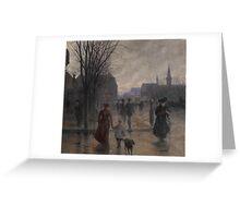 Rainy Evening on Hennepin Avenue, c.1902 Greeting Card