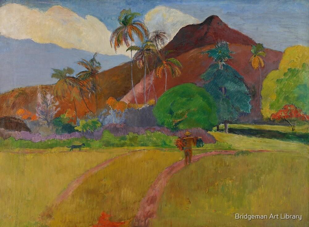 Tahitian Landscape, 1891  by Bridgeman Art Library