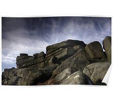 Stanage Edge Rocks Poster