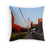 powerlines at sunset Throw Pillow