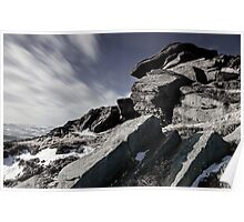 Windswept on Stanage Edge Poster