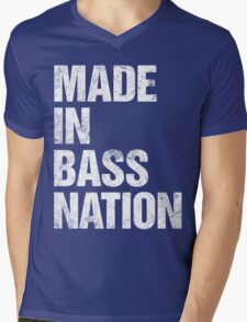 Made In Bass Nation  Mens V-Neck T-Shirt