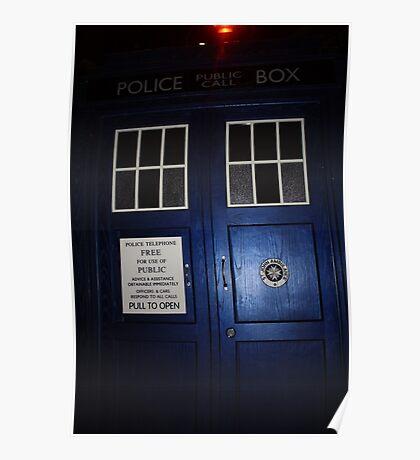Doctor Who Tardis Door - Tom Baker Poster